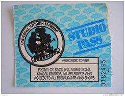 Ticket Universal Studios Florida Studio Pass 1993 - Tickets D'entrée