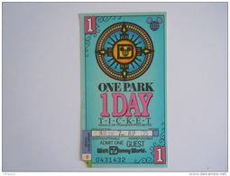 Ticket WALT DISNEY WORLD Atlanta One Park 1 Day Ticket 1993 - Tickets D'entrée