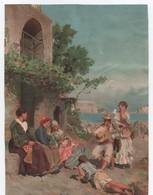 Chromo/Aubade Donnée Par Un Guitariste à Un Groupe De Femmes/Espagne? Portugal? /Grd Format/Vers 1890-1900    CHRO93 - Chromos