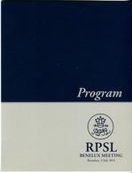 Program RPSL Benelux Meeting Roeselare 9/07/2013 Avec Tmbre - Belgique