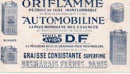 Paris : Buvard ORIFLAMME   ESSENCE PETROLE GRAISSE.. (PPP8611) - Transports