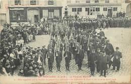 MONTLHERY - La Place Du Marché,préparation Militaire,avril 1908. - Montlhery