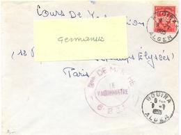 GUERRE D'ALGERIE Bon DE MARCHE - 6e B.C.A.  BOUIRA ALGER TàD 9-7-1955 - Postmark Collection (Covers)