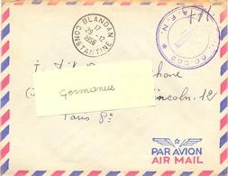 GUERRE D'ALGERIE  S.P. 86.582 A.F.N.  TàD BLANDAN CONSTANTINE Du 29-12-1956 - Postmark Collection (Covers)