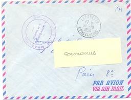 GUERRE D'ALGERIE 20e REGIMENT DE DRAGONS Le Capitaine Commandant Le 2e Escadron  TàD LAFAYETTE CONSTANTINE 27-10-1956 - Marcophilie (Lettres)