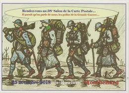CPM Pour Le 38ème Salon De La Carte Postale De Montbelliard (guerre 14/18) - Bourses & Salons De Collections