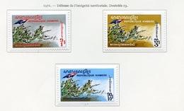 Khmère - Khmer - Cambodge 1971 Y&T N°271 à 273 - Michel N°296 à 298 * - Série Intégrité Territoriale - Kampuchea