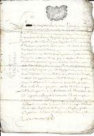 Cachets Generalité ACTE 19 AVRIL 1697  ,  PAPIER  AVEC  PHILIGRAMME - Cachets Généralité