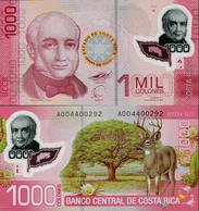 Costa Rica 2009 - 1000 Colones - Pick 274 UNC Polymer - Costa Rica