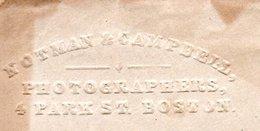 EMBOSSED Advertisement Notman & Campbell Photographers 4 Park Street Boston (806) - 1847-99 Algemene Uitgaves
