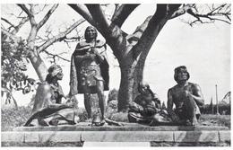 POSTAL    MONTEVIDEO  -URUGUAY  -MONUMENTO A LOS INDIOS CHARRUAS-JARDINES DEL PRADO - Uruguay