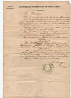 Académie Départementale De Loir Et Cher Nomination Par Le Recteur D'un Instituteur Public à Vouzon Loir Et Cher En 1853 - Manoscritti