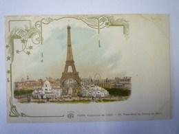 """PARIS EXPO De 1900  :  Panorama Du Champ De Mars  (Carte  PUB  """"A La Fermière"""")   - Expositions"""
