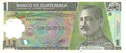 Guatemala  P-115b  1 Quetzal  2012   UNC - Guatemala