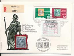 SCHWEIZ / ZOFINGEN - 1982 , Numisbrief , 100 Jahre Stehende Helvetia , Silber - Schweiz