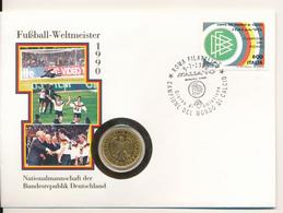 ITALIA / ROMA - 9.7.1990 , Numisbrief , Deutschland Fussball-Weltmeister - Italien