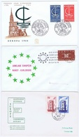 France;  Europa - CEPT; 3 Covers 1956, 1963, And 1966 (FDC) - Autres