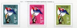 Khmère - Khmer - Cambodge 1972 Y&T N°321 à 323 - Michel N°(?) * - Série Régime Républicain - Kampuchea