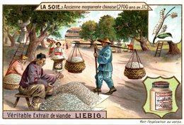 CHROMO LIEBIG   LA SOIE  ANCIENNE MAGNANERIE CHINOISE - Liebig