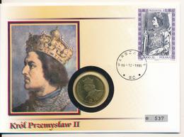 POLAND / POLSKA / POLEN  - 1985 , Numisbrief , 100 Zloty  Prezemyslaw II. - Polen
