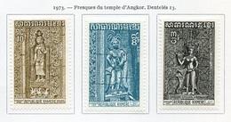 Khmère - Khmer - Cambodge 1973 Y&T N°332 à 334 - Michel N°(?) * - Série Temple D'Ankhor - Kampuchea