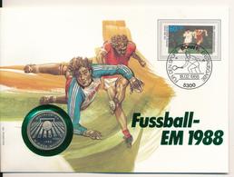 POLAND / POLSKA / POLEN  - 1987 , Numisbrief , 200 Zloty  Fussball Europameisterschaft 1988 - Polen