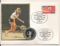 POLAND / POLSKA / POLEN  - 1987 , Numisbrief , 200 Zloty  Tennis - Steffi Graf , Olympiade - Polen