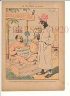 Gravure Presse 1920 Humour Boutique Boucherie Fine Viande Explorateur Afrique Cannibalisme Gite à La Noix 223CH3 - Old Paper