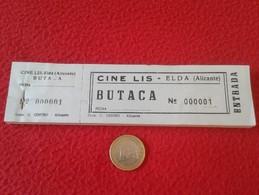 SPAIN. TALONARIO CON 100 ENTRADAS CINE LIS ELDA ALICANTE. ENTRADA OLD TICKET TICKETS CINEMA BIGLIETTO BIGLIETTI - Tickets - Entradas