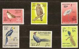 Birmanie Burma Birma 1964 Yvertn° 96-101 *** MNH Cote 46,30 Euro Hautes Valeurs Faune Oiseaux Vogels - Birds