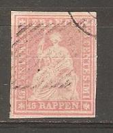 Timbre De 1854/55 ( Strubel 24 B  ) - Oblitérés