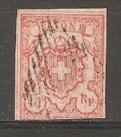 Timbre De 1852 ( Rayon III  ) - 1843-1852 Timbres Cantonaux Et  Fédéraux