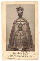 Notre Dame Du Puy Statue Bois Vénérée : IMAGE PIEUSE RELIGIEUSE HOLY CARD SANTINI HEILIG PRENTJE - Imágenes Religiosas