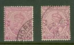 India: 1926/33   KGV      SG205 / 206    2a   Bright Purple And Purple  Used - India (...-1947)