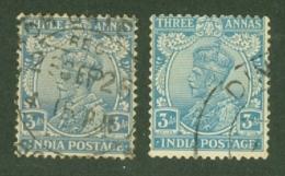 India: 1926/33   KGV      SG208 / 209    3a   Ultramarine And Blue  Used - India (...-1947)