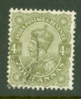 India: 1926/33   KGV      SG211    4a        Used - India (...-1947)