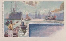 Litho Künstlerkarte AK Istanbul Bosporus An Bord K U K Lloyd Dampfer MS Cleopatra Auf Hoher See Türkei Türkiye Turquie - Türkei
