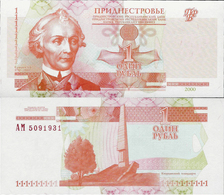 Transnistria 2000 - 1 Ruble - Pick 34 UNC - Bankbiljetten