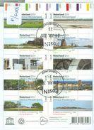 Nederland GEBRUIKT * NVPH Nr.  V 3209 - 3218 * BLOK BLOC BLOCK * 10 X 1 * UNESCO - Periode 2013-... (Willem-Alexander)