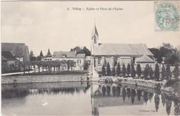 F78-071 VELIZY - EGLISE ET PLACE DE L'EGLISE - Velizy