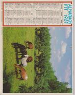 CALENDRIER PTT 1987 ( CHEVAUX ) - Calendars