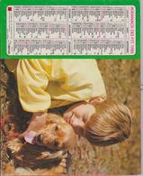 CALENDRIER PTT 1985 ( ENFANTS Avec  CHEVAL Et CHIEN ) - Calendars