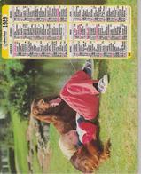 CALENDRIER PTT 1989 ( ENFANTS Avec  CHIENS ) - Calendars