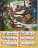 CALENDRIER PTT 1988 ( ENFANTS Avec  CHIEN Et ANE ) - Calendriers