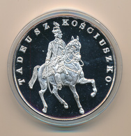POLAND / POLSKA / POLEN / POLOGNE - 1990 , 155,5 Gr. Silber , 65 Mm ,  200 000 Zloty  PP  , Tadeusz Kosciuszko - Poland