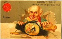 Chromo & Image - Chromo. Dorée - CHOCOLAT POULAIN - Les Mois De L'Année - Avril - En TB. Et - Poulain