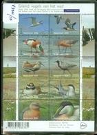 Nederland 2016 NVPH V.3401-3410 Griend Vogels Van Het Wad Stern Scholekster Visdief BLOK * POSTFRIS GESTEMPELD * BIRDS - Periode 2013-... (Willem-Alexander)