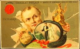 Chromo & Image - Chromo. Dorée - CHOCOLAT POULAIN - Les Mois De L'Année - Octobre - En TB. Et - Poulain