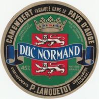 ETIQUETTE DE CAMEMBER  DU NORMANDE  LANQUETOT ORBEC  EN AUGE   EB 8 - Fromage