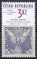 1995, Tschechische Republik, Ceska, 63,  Tradition Tschechischer Briefmarkengestaltung. MNH ** - Tschechische Republik